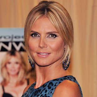 Heidi Klum: Sleek Hair Trend