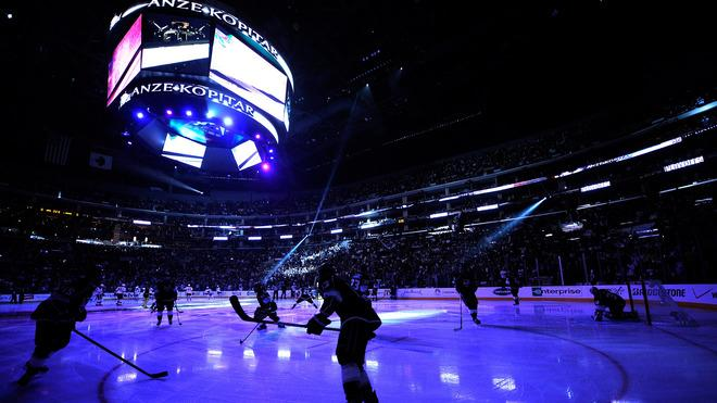 The Los Angeles Kings Warm-up Getty Images