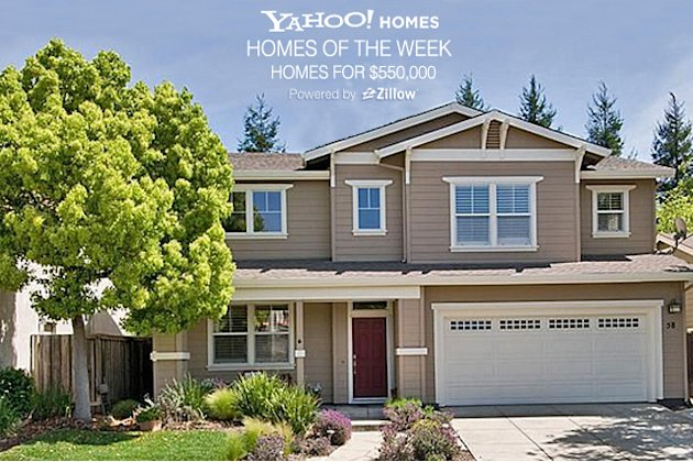 Yahoo! Homes of the Week: $550,000 homes cover