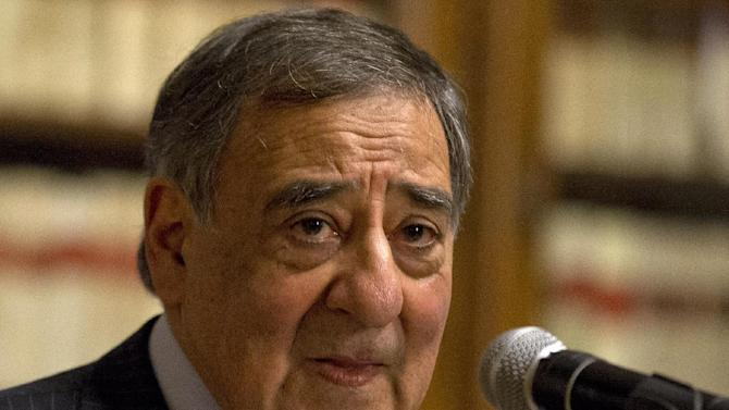 """Defense Secretary Leon Panetta pauses during a news conference in Rome, Wednesday, Jan. 16, 2013. Panetta confirmed on Wednesday that American citizens are among the hostages taken by an Al Qaeda-linked group that seized a gas field in Algeria, calling the action a """"terrorist attack,"""" (AP Photo/Jacquelyn Martin)"""