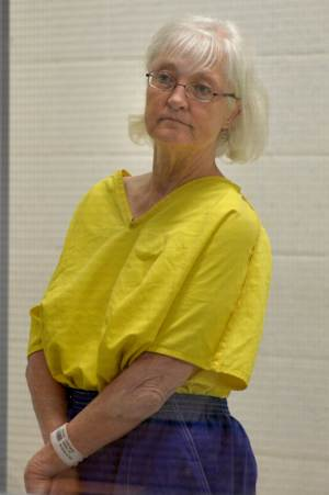 FILE - Marilyn Jean Hartman appears in court in this Wednesday afternoon, Aug. 13, 2014 file photo, in the airport courthouse in Los Angeles. Hartman was released Saturday Aug. 16, 2014 from the Century Regional Detention Facility in Lynwood, California, shortly after 6 p.m., according to jail records. (AP Photo/The Daily Breeze, Brittany Murray)