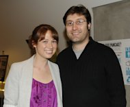 Ellie Kemper and Michael Koman attend Rainn Wilson&#39;s &#39;Soul Pancake&#39; Book Party at on October 29, 2010 in Los Angeles -- WireImage