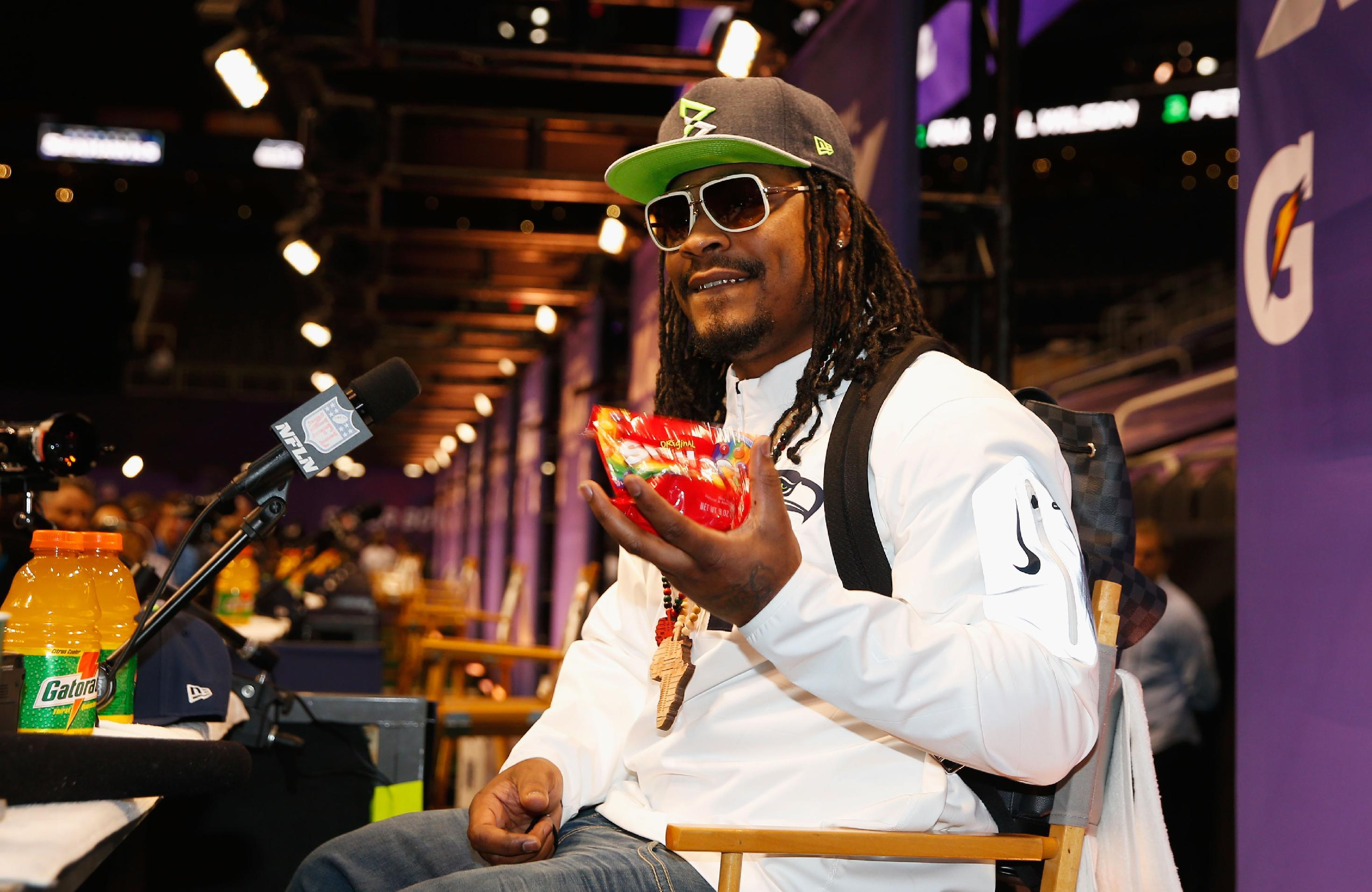 Special delivery elicits different quote from Marshawn Lynch