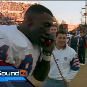 Former Denver Broncos and Baltimore Ravens tight end Shannon Sharpe mic'd up