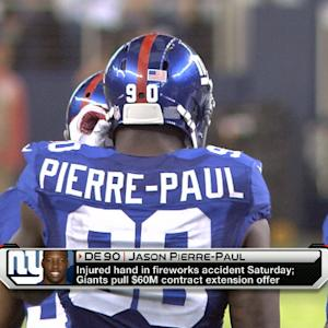 New York Giants pull defensive end Jason Pierre-Paul's contract extension offer