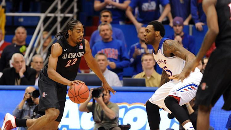 NCAA Basketball: San Diego State at Kansas