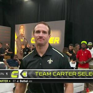 Pro Bowl Draft: New Orleans Saints quarterback Drew Brees goes No. 17