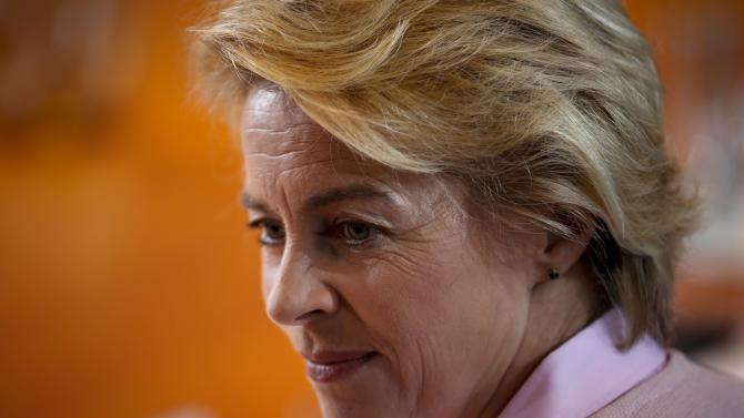 German Defence Minister Ursula von der Leyen attends cabinet meeting at the Chancellery in Berlin