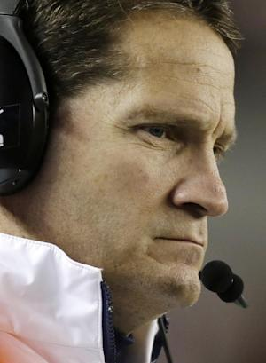 Auburn coach Gene Chizik watches from the sidelines during the second half of a 49-0 loss to Alabama in a NCAA college football game at Bryant-Denny Stadium in Tuscaloosa, Ala., Saturday, Nov. 24, 2012. Chizik was fired Sunday after a 3-8 season by Athletic Director Jay Jacobs. (AP Photo/Dave Martin)