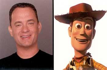 Tom Hanks as the voice of Woody in Disney's Toy Story 2