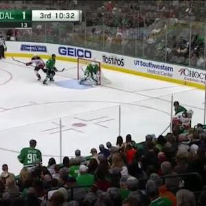 Jamie Benn Hit on Emerson Etem (09:30/3rd)