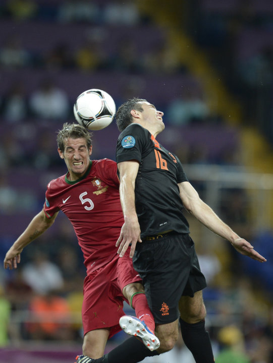 Portuguese Defender Fabio Coentrao (L) Vies AFP/Getty Images