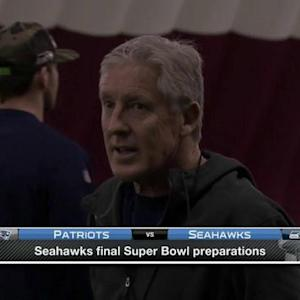Seattle Seahawks final Super Bowl preparations