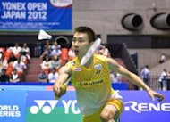 Malaysia's Lee Chong Wei during his Japan Open final against Thailand's Boonsak Ponsana on September 23. Lee fended off a spirited challenge from Boonsak to win the men's singles title at the badminton tournament on Sunday