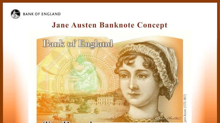 Jane Austen to grace Bank of England 10-pound note