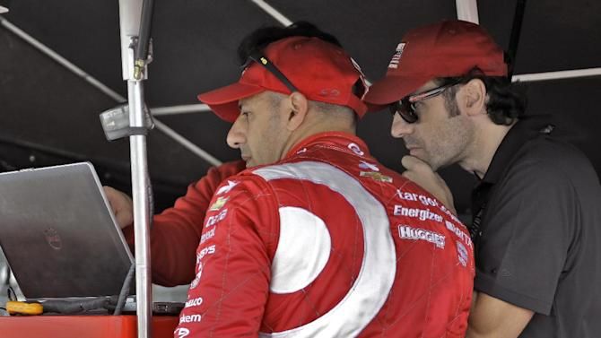 Franchitti returns to IndyCar as a spectator