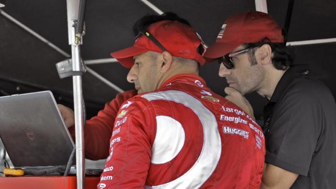Franchitti returns to IndyCar as a spectator