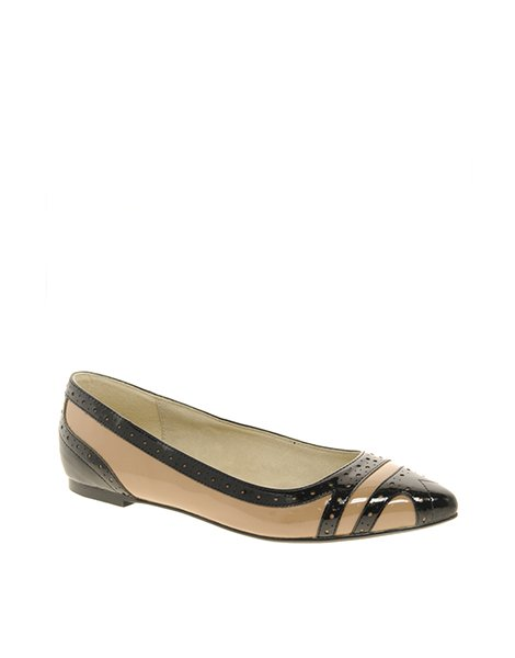 Faith &quot;Agatha&quot; contrast pointed ballet flats, $48.29 at ASOS