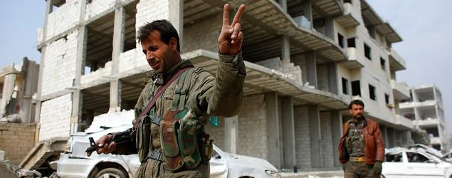 Kurds celebrate IS defeat with victory dance