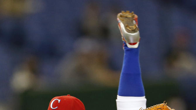 Cuba's starter Ismel Jimenez delivers a pitch against the Netherlands in the first inning of their World Baseball Classic second round game in Tokyo, Japan, Friday, March 8, 2013. (AP Photo/Koji Sasahara)