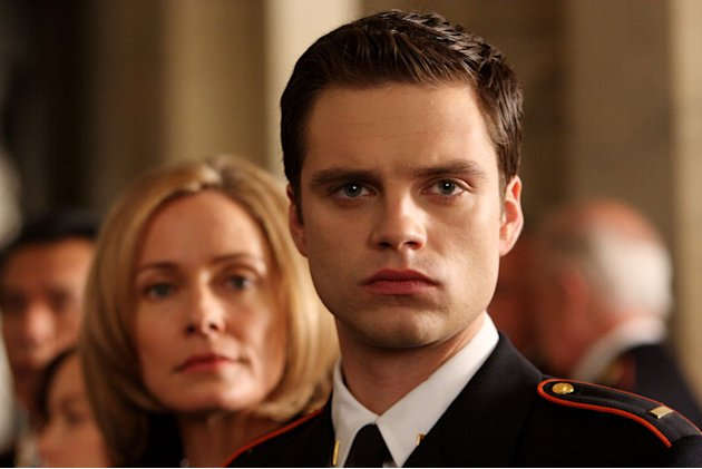 Susanna Thompson stars as Rose Benjamin and Sebastian Stan stars as Jack Benjamin in Kings.