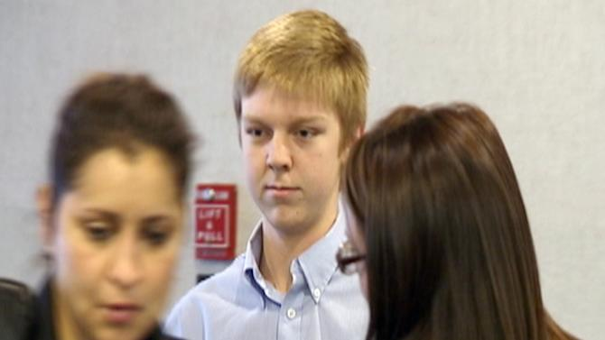 FILE - In this December 2013 image taken from a video by KDFW-FOX 4, Ethan Couch is seen during his court hearing in Fort Worth, Texas. The family of Couch, who killed four people in a drunken wreck, will pay a fraction of the cost of court-ordered treatment as part of his probation sentence. (AP Photo/KDFW-FOX 4, File)