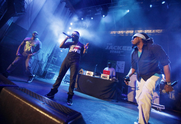 Hip hop group Turquoise Jeep performs on The JACKED Stage by Doritos in Austin, Texas, Saturday, March 17, 2012. The 56-foot-tall vending machine JACKED Stage was unveiled at SXSW to debut amped up ne