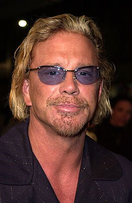 Mickey Rourke at the Los Angeles premiere of Warner Brothers' The Pledge