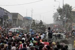 Residents supporting Congo's army gather to protest …