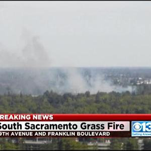 Grass Fire Spreads To South Sacramento Home