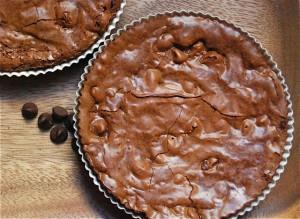 Mocha Chocolate Chip Brownie Tarts