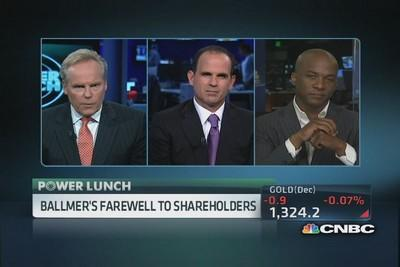 Ballmer: Made strong progress in past year