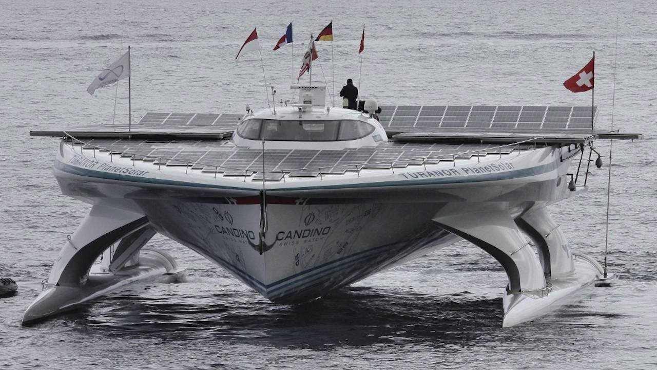 Massive solar-powered boat docks in Halifax