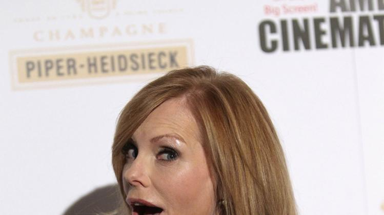 Helgenberger arrives at the American Cinematheque's 2013 Award Show honoring Jerry Bruckheimer, at The Beverly Hilton Hotel