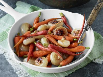 Pan-Glazed Cipollini Onions and Carrots