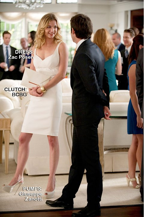 "Emily VanCamp as Emily Thorne in the Season 1 episode ""Suspicion."" Revenge"
