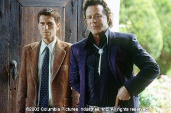 Bernard Hacker and Johnny Depp in Columbia's Once Upon a Time in Mexico