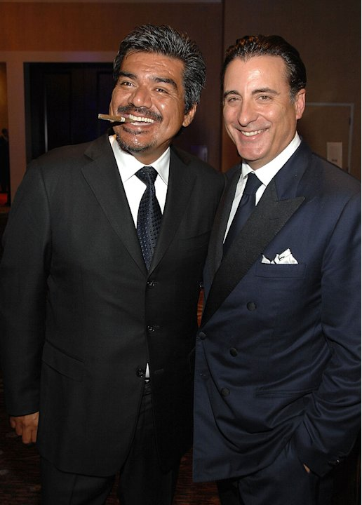 George Lopez and Andy Garcia attend the 23rd Annual American Cinematheque Awards held at the Beverly Hilton on December 1, 2008 in Beverly Hills, California.