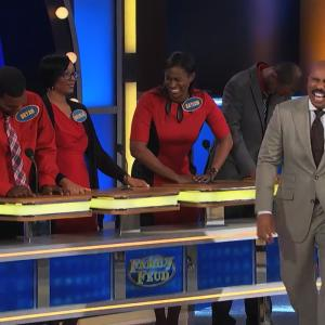 Steve Harvey Was Completely Delighted By This Group on 'Family Feud'