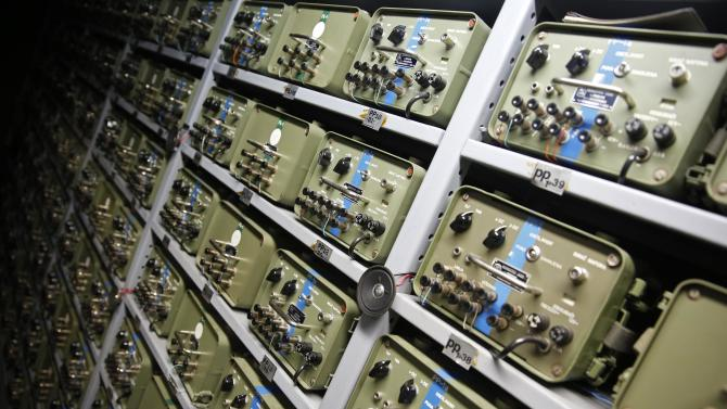 Switchboards for telecommunications are seen in Tito's underground secret bunker (ARK) in Konjic