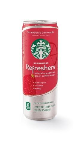 Starbucks' new energy drink Refreshers in Strawberry Lemonade.