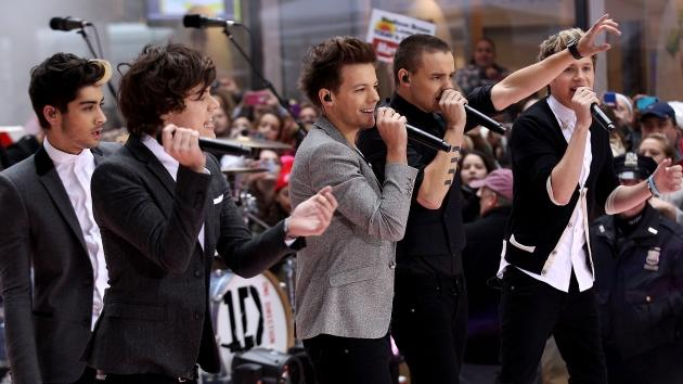 Zayn Malik, Harry Styles, Louis Tomlinson, Liam Payne and Niall Horan of One Direction perform on NBC's 'Today' at Rockefeller Plaza on November 13, 2012 in New York City -- Getty Premium
