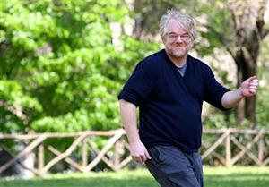 File photo of Hoffman smiling during a photo call in Rome