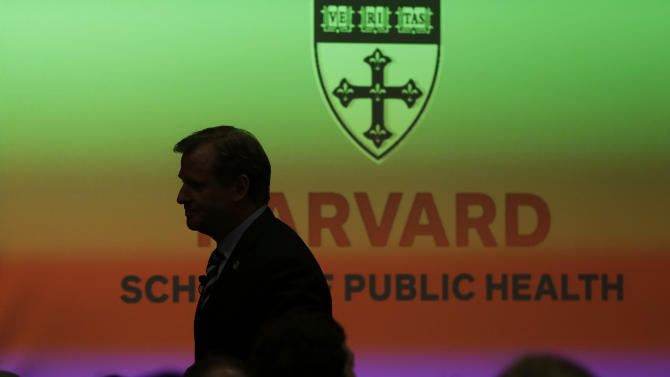NFL football commissioner Roger Goodell heads to the podium to deliver a Dean's Distinguished Lecture at Harvard School of Public Health in Boston, Thursday, Nov. 15, 2012, where he discussed some of the rules that have been created to limit concussions in the game of football. Goodell said the league will do what it needs to do to protect the safety of its 1,800 players. (AP Photo/Elise Amendola)