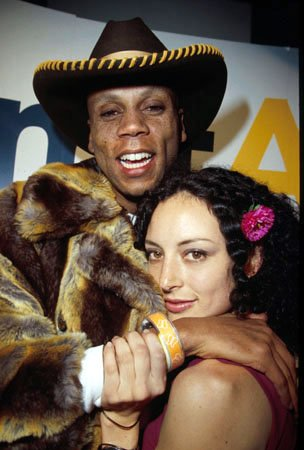 "RuPaul with ""Groove"" star Lola Glaudini Sundance Film Festival January 24, 2000"