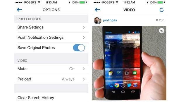Instagram's latest iOS update won't let you stop video playback