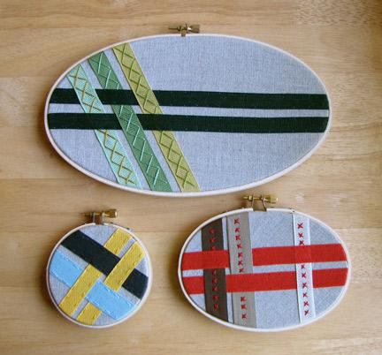 Ribbon Art Embroidery Hoop