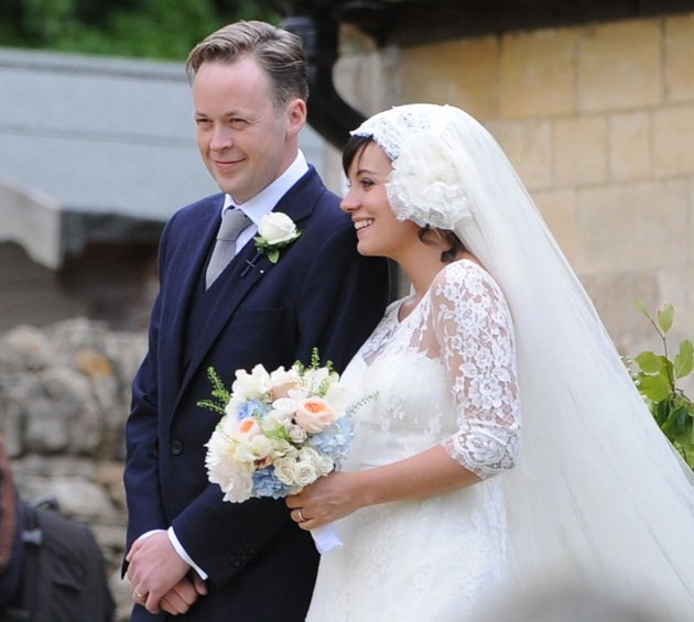 Lily Allen and Sam Cooper on their wedding day