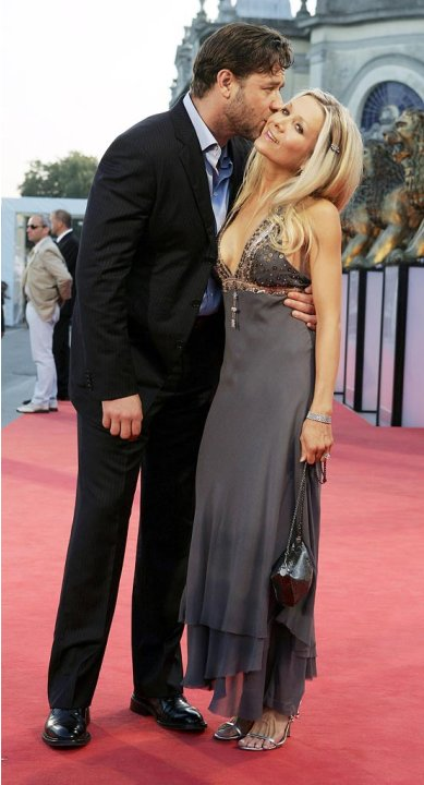Russell Crowe Danielle Spencer 2005