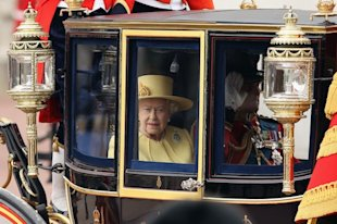 The Queen Trooping The Colour 2012